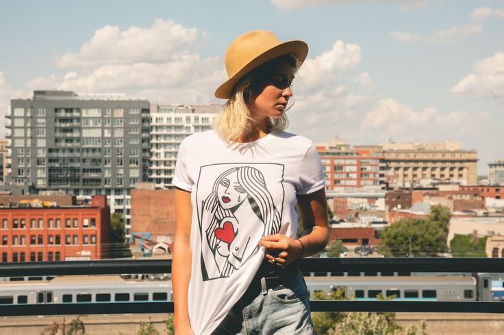 T-Shirt Mona by Lydia Marier for Le Cartel (Photo Kevin Millet)