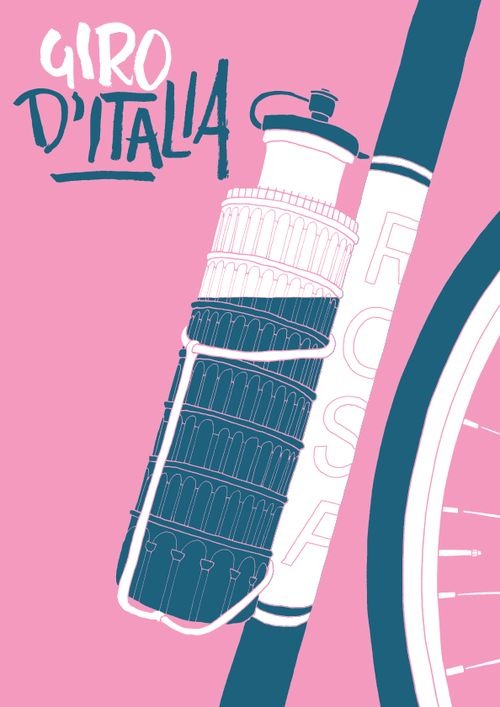 ziudadano: lovetype: Happy Giro d'Italia (The Tour of Italy)! This magnificent race just began for the 96th time on 4 May 2013. First stage taken by Cavendish with 3 weeks more of grueling terrain for the worlds toughest riders. Dai Dai! Giro de Italia poster