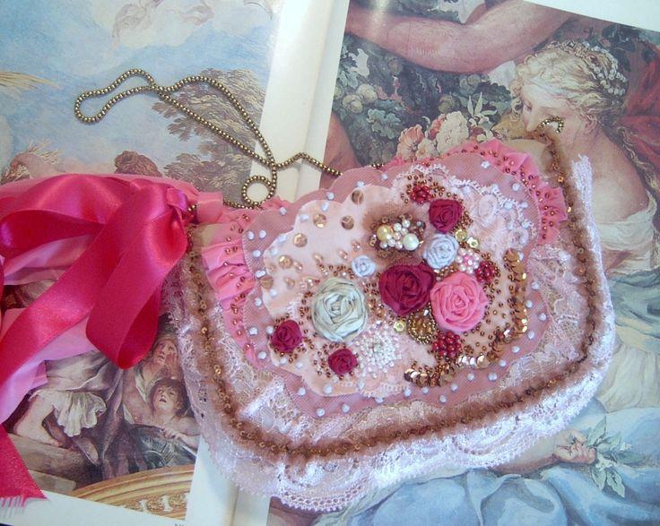borsa donna da sera completamente realizzata e ricamata a mano pizzo perle rosa | Abbigliamento e accessori, Vintage, Accessori vintage | eBay!