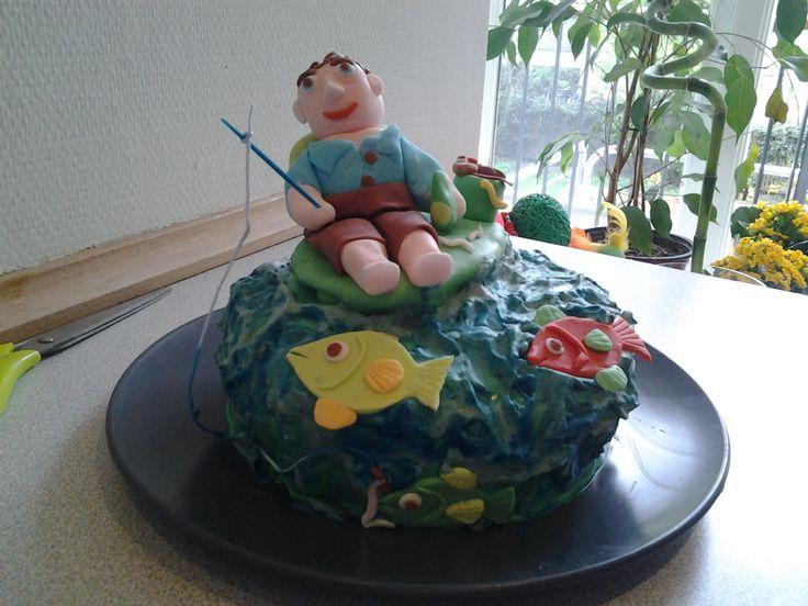 Kage der forestiller min Mand der fisker.