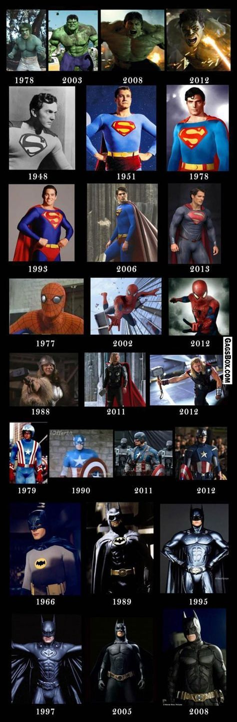 Amazing Superheroes Evolution