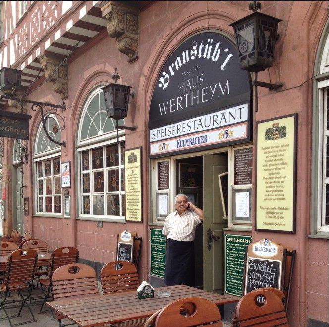 Un típico restaurante de Frankfurt