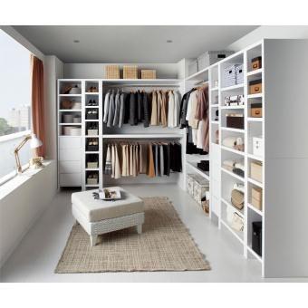 自宅にウォークインクローゼットが手軽に作れる収納シリーズ。空いた子供部屋や納戸を素敵な衣装部屋にリフォームできます。ハンガーラック、収納棚、引き出し付き棚の3タイプ。スペースに合わせて幅や奥行をお選びください。