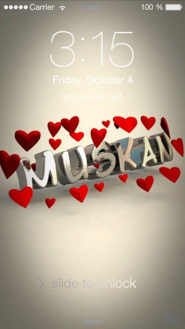 Muskan Logo | Name Logo Generator - I Love, Love Heart, Boots