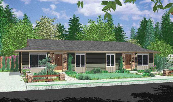 Plan 8150lb Ranch Duplex Ranch Style House Plans Duplex Design Duplex House