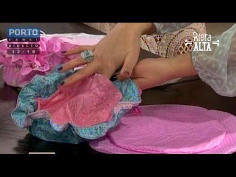 Bolsa porta-bijus de tecido - Artesanato - Ateliê Centauro - Artesã Karina Raszl - YouTube