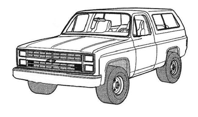 old chevy truck drawings sketch coloring page