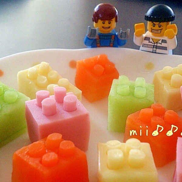 LEGO(レゴ)ブロックサラダ✿キャラ弁にぜひ♪
