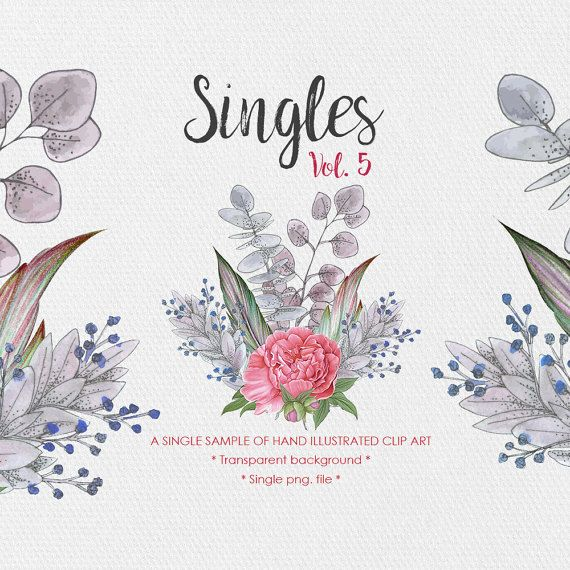 Watercolor Floral Clipart  Singles Vol.5  by JessicaOxleyAI