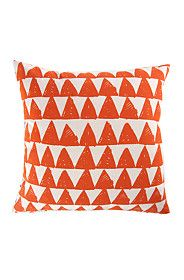 PRINTED TRIANGULAR SKETCH 50X50CM SCATTER CUSHION