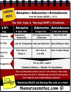 Cardiac Medications Triple A Adenosine Atropine Amiodarone NCLEX BUN Creatinine…