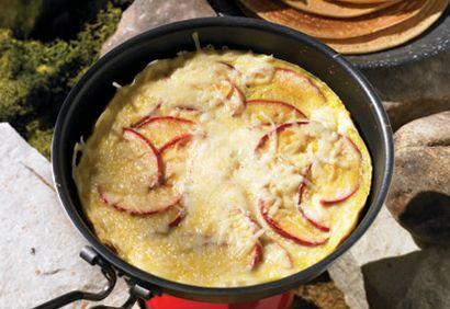 omelette pommes saucisses
