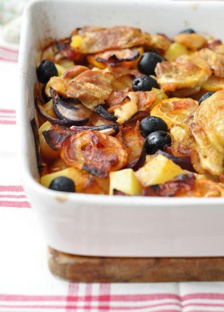 Krumplival, citrommal, olívával sült csirke | Csak a Puffin ad Neked erőt