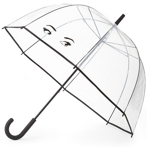 Clear Umbrella in Winking Eyes by Kate Spade