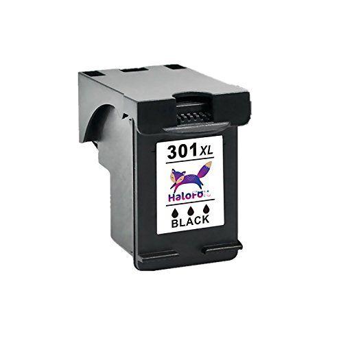 nice HaloFox Remanufacturado Cartuchos de tinta 301XL Negro Compatible para HP Deskjet 2540 2542 2544 1015a 1510 3050A Envy 4500 4502 4504 4505 4507 5530 5532 Impresora