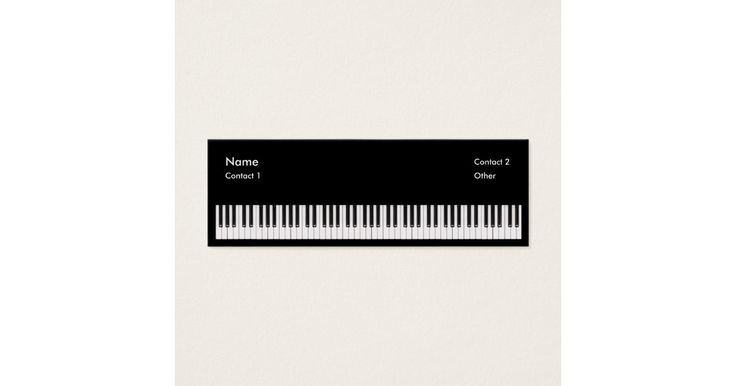 A perfect business card for a piano teacher or even a studio musician.