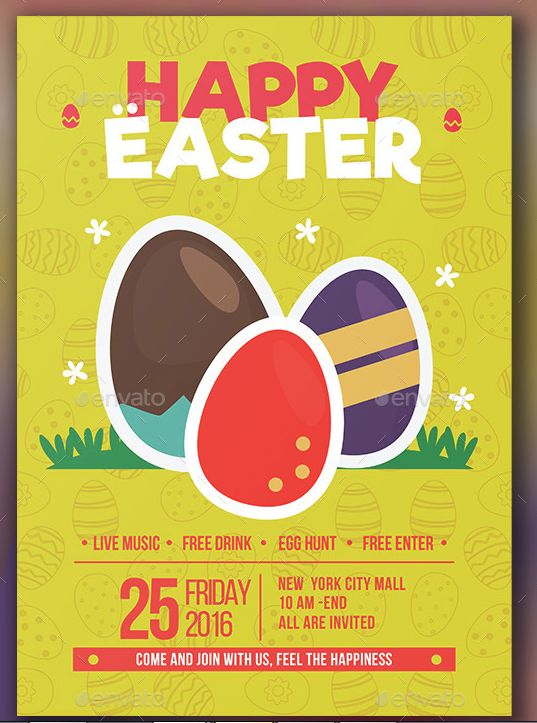 25 best 25 Beautiful Easter Flyer Template images on Pinterest - easter flyer template