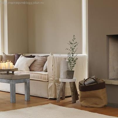 loose linen slip covered sofa - contemporary living room in chalky neutral colors
