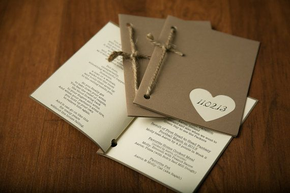 Wedding Programs -Rustic and modern