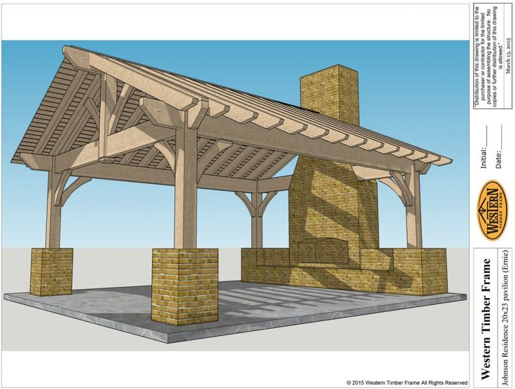Add Element of Fire with Outdoor Fireplace & DIY Pergola Kit