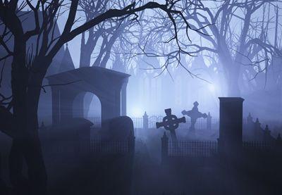 Cemetery Fog - Halloween Mural