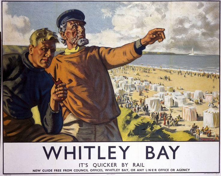 LNER poster, 1923-1947. whitley-bay-poster.16
