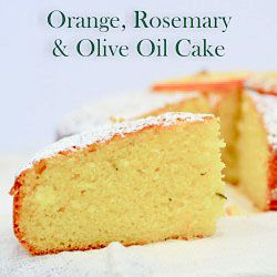A very healthy cake. Make with olive oil, oranges and rosemary. No butter was used to make this cake!