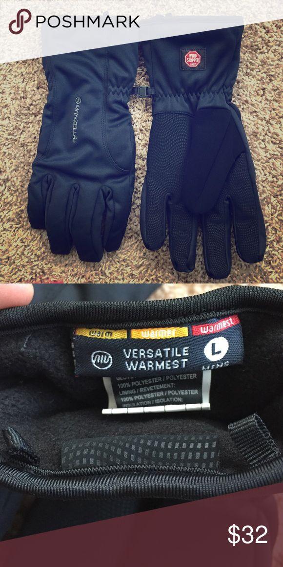 "NEW Men's Manzella Wind Stopper Gloves❄️ NEW Men's Manzella Wind Stopper Winter ""Warmest"" Gloves. Very soft interior. Never worn! Size Large. Manzella Accessories Gloves"