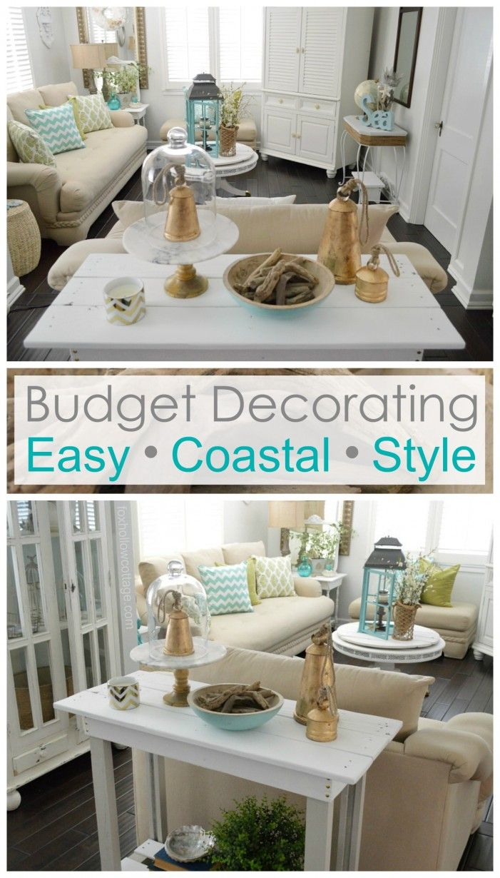 Budget Decorating - easy affordable coastal style - foxhollowcottage.com