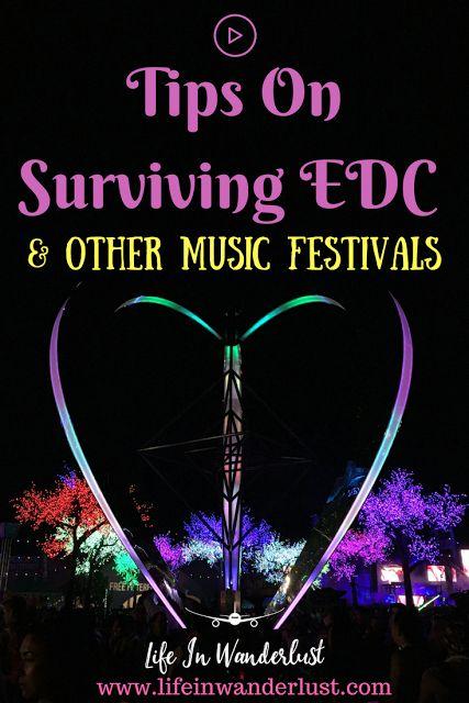 Tips On Surviving EDC (Electronic Daisy Carnival) Las Vegas, Coachella, HardFest, Ultra Music Festival & other Music Festivals! #survivalshelter
