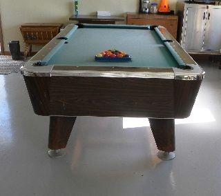 "Table de billard, Dimensions: 53"" x 93"" , Lac Baker, Nouveau-Brunswick, Canada  2011-09-16"