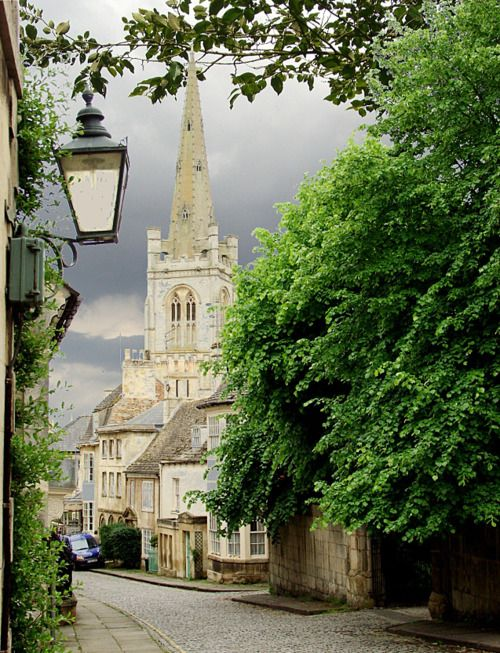 Barn Hill in Stamford, Lincolnshire, England