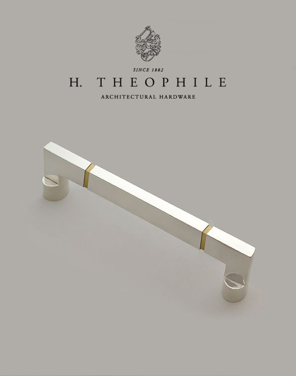 Mixed Metal Wire Pull By H Theophile, Wire Pulls Cabinet Hardware
