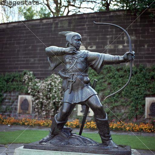 Nottingham Castle And Sherwood Forest Robin Hood Statue