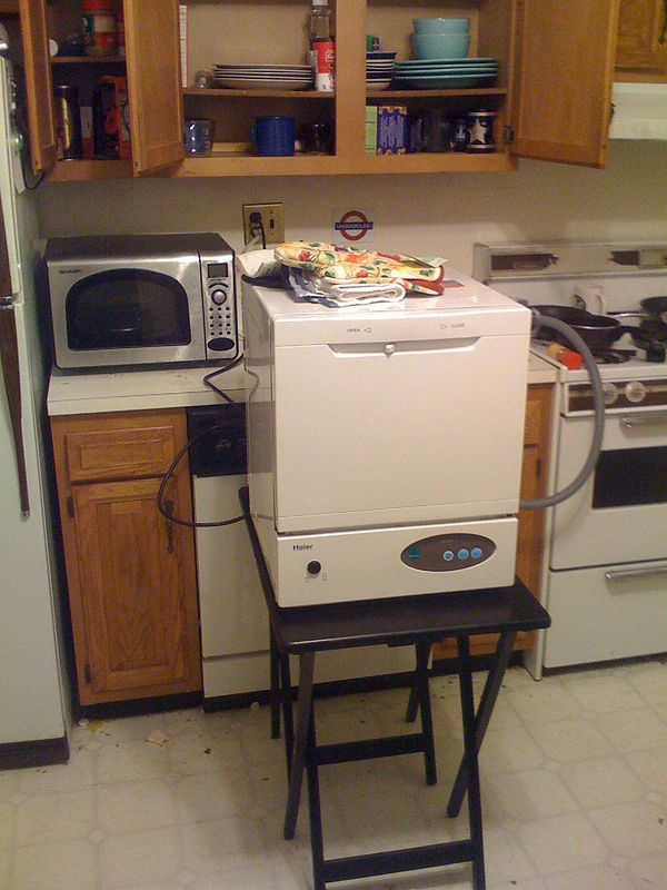 Portable Dishwasher Enclosures : Buy a portable dishwasher and