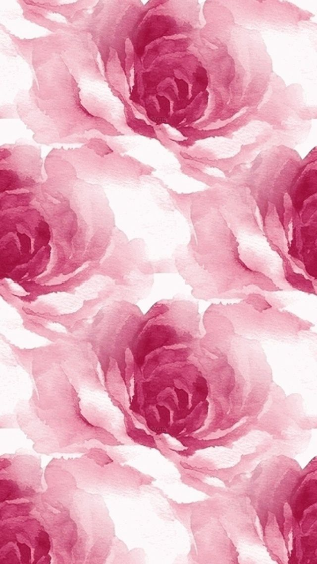 Watercolor Roses Pattern 640 x 1136 Wallpapers disponible para su descarga gratuita.
