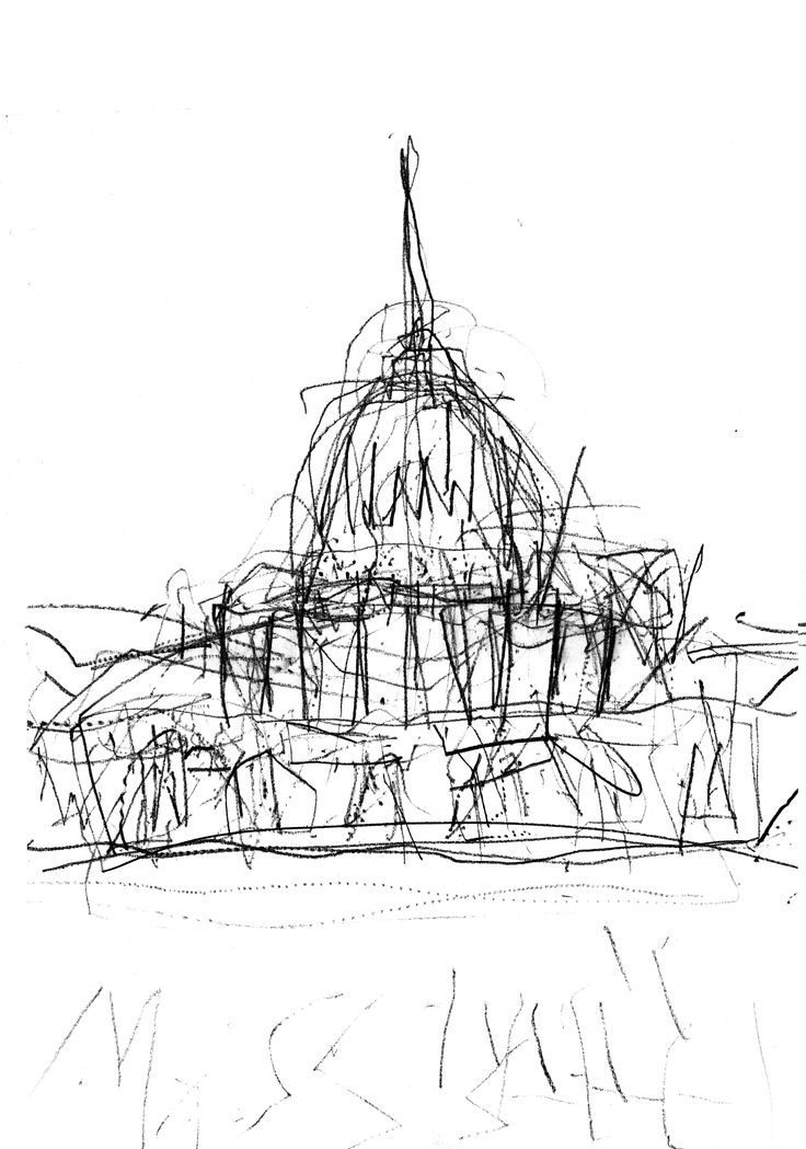 Extended arm drawing of St Paul's Cathedral  - Elliot