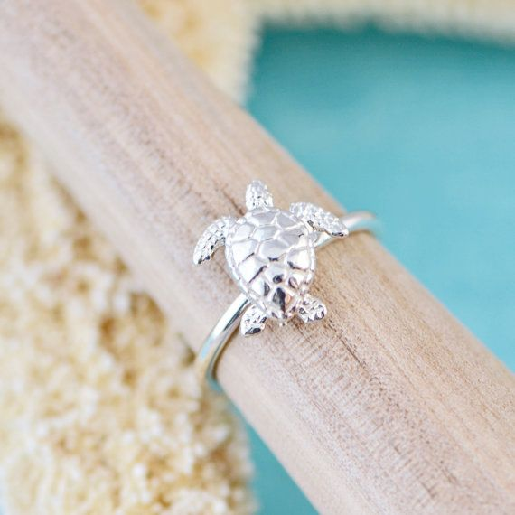 Turtle Ring, Sterling Silver Turtle, Silver Sea Turtle Jewelry, Silver Sea…