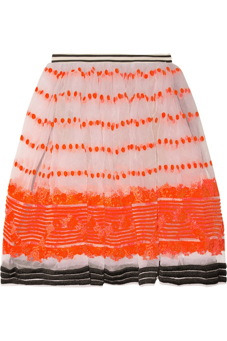 Marni | Sequence embroidered organza skirt | NET-A-PORTER.COMFashion, Sequences Embroidered, Style, Clothing, Marni Sequences, Embroidered Organza, Marni Skirts, Organza Skirts, Marni Sequ Embroidered