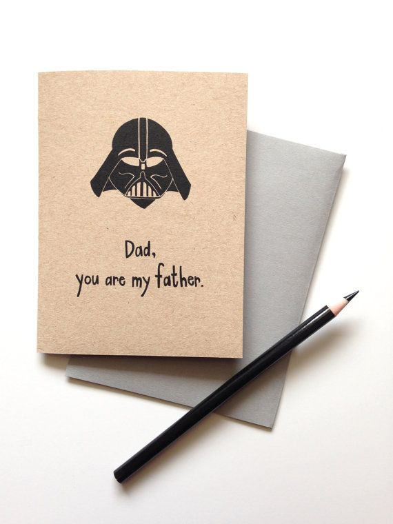 Dad You are My Father // Father's Day Card by SableAndGray on Etsy (I may have to get this for the kids to give their Dad next Father's Day, because my Dad wouldn't think it was as funny as my husband would.)