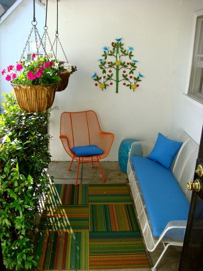 small patio/balcony space.