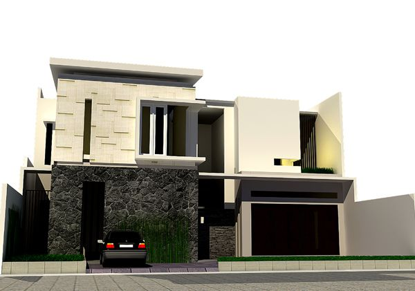 desain rumah minimalis modern.  Maybe take random key stones out and put other portruding pieces to give it a modern look
