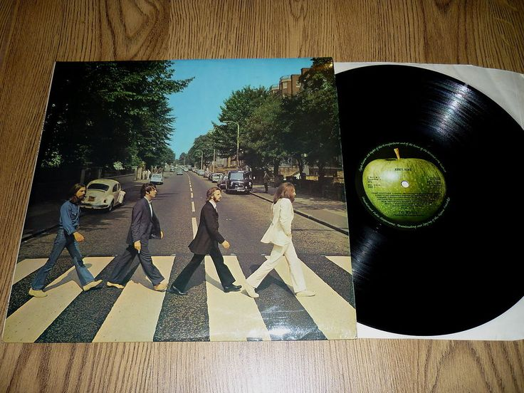 THE BEATLES - Abbey Road - UK 1st PRESS LP - APPLE PCS 7088 - NO Her Majesty