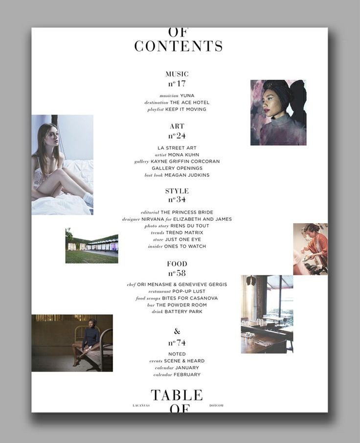 Table Of Contents - sorta neat idea to maybe incorporate into the website? I know TOCs are for print, but it would be fun. :P