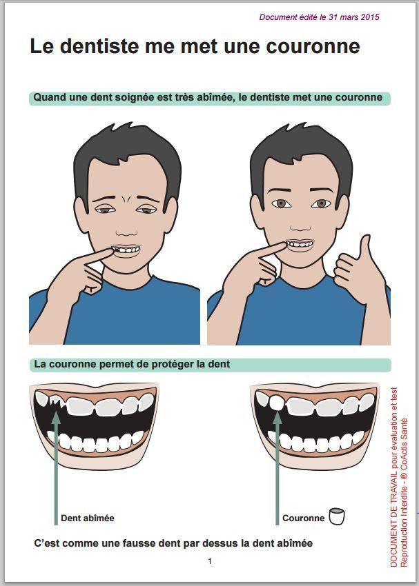 Corona dental - Documentos de comunicación aumentativa y alternativa para la salud, cuidados y hospitalización.