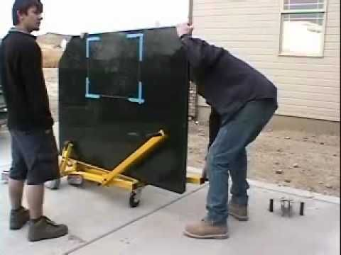 Wood's Powr-Grip Stone Moving Dolly - YouTube