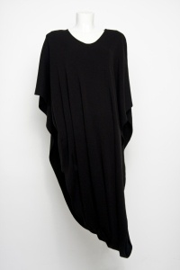 Lana Wrap Black - The new style layer by L FOR LAZARUS, shown without belt. Available Autumn 2012.