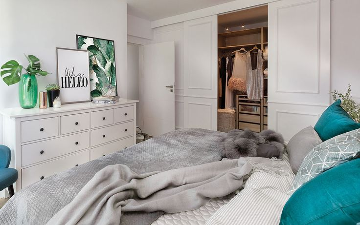 Sypialnia w nowoczesnej i ciepłej aranżacji. Fot. Przemysław Kuciński #sypialnia #łóżko #wnętrze #inspiracje #interior #bedroom