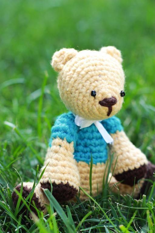(4) Name: 'Crocheting : Cute teddy bear