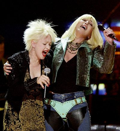 """http://triangleartsandentertainment.org/wp-content/uploads/2014/01/Cyndi-Lauper-Cher.jpg - CHER TO BE JOINED BY SPECIAL GUEST CYNDI LAUPER - Cher has just announced Cyndi Lauper as support for her """"Dressed To Kill Tour."""" Find Today's Daily Deal on the Best in Raleigh/Durham! - http://triangleartsandentertainment.org/2014/01/cher-to-be-joined-by-special-guest-cyndi-lauper/"""